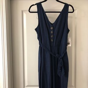 denim blue jumpsuit